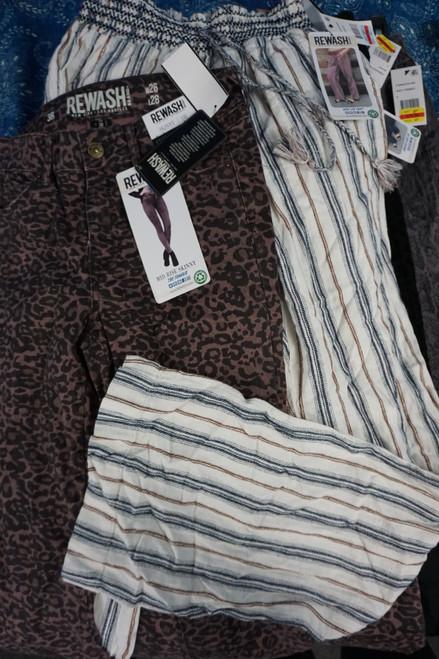 12pc Jrs *ONLY REWASH* Jeans & Pants #23003K (W-6-3)