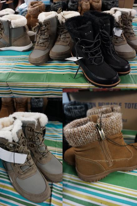 7prs Womens Boots KHOMBU Weatherproof JBU #23032L (U-3-5)