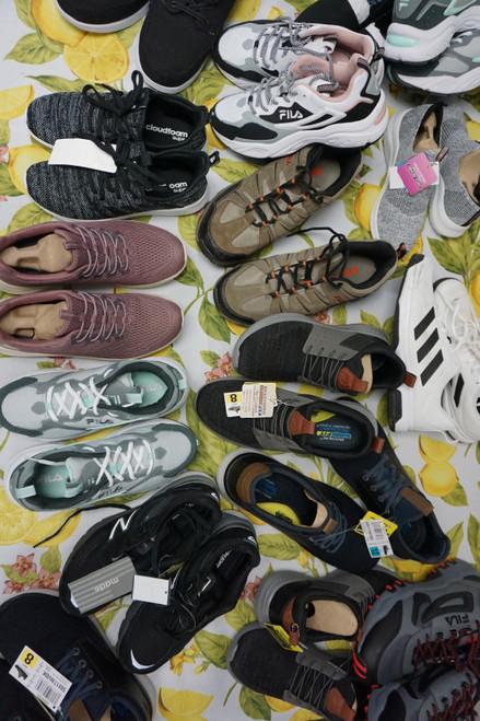 20prs Tennis Shoes / Sneakers Puma ADIDAS Fila SKETCHERS #23049M (V-3-1/2)