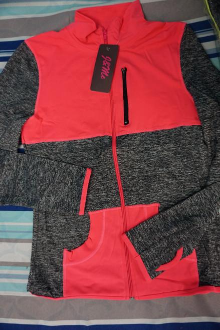 25pc Pink/Gray ACTIVE Zip Jackets #23085P (U-5-3)