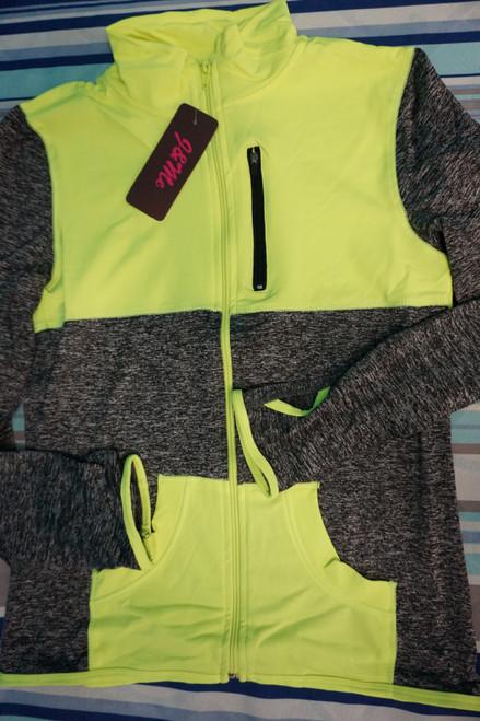 25pc Neon / Gray ACTIVE Zip Jackets WOMENS #23086P (U-4-5)