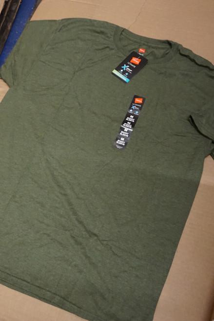 100pc Mens HANES X-Temp TEES Fatigue Green #23155v (u-6-4/5)