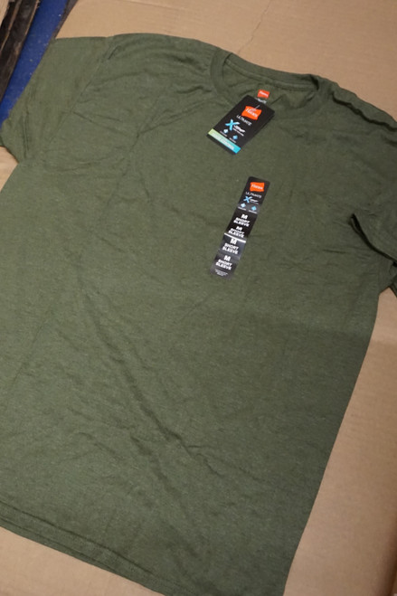 200pc Mens HANES X-Temp TEES Fatigue Green #23156v ()