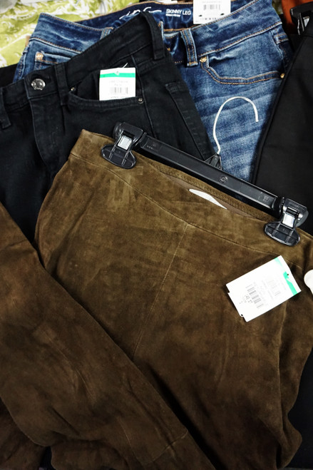 13pc Big Store & M*CYS Pants REAL LEATHER VINCE Theory INC #23183w (W-3-2)