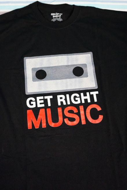 31pc Mens GET RIGHT MUSIC Graphic Tees #23297d (K-1-5)