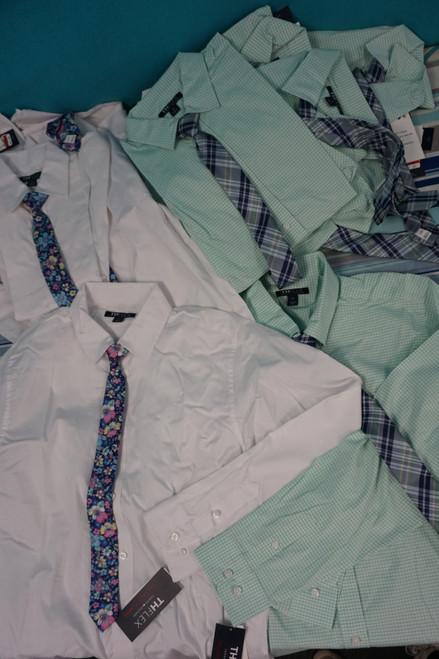 16 Sets = 32pc BOYS Tommy Hilfiger Button-Ups TWO COLORS #23312E (x-1-3)
