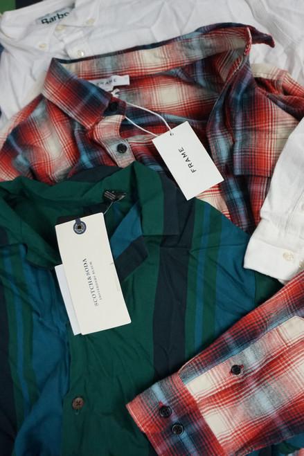 10pc Mens FRAME Scotch & Soda BARBOUR & More Shirts #23345F (W-4-1)