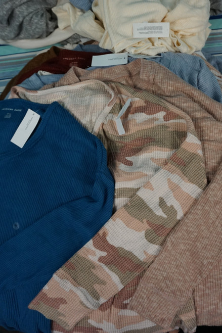 41pc American Eagle Thermal & Waffle Tops #23530R (V-2-2)