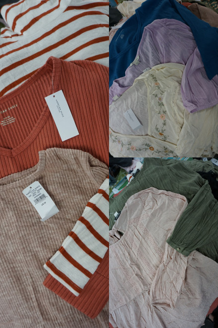 89pc LARGE QTY American Eagle Womens Tops #23626Y (O-3-2)