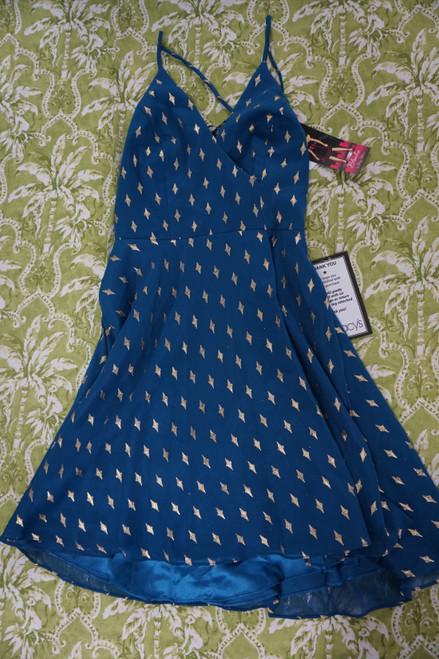 27pc Juniors Blondie Blue & Gold Dresses #23661A (Y-1-3)