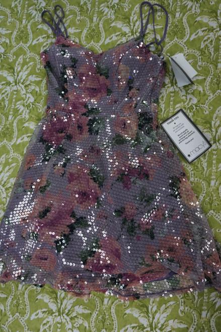 12pc CITY STUDIO Purple Sequin Short Dresses #23663A (Y-2-6)