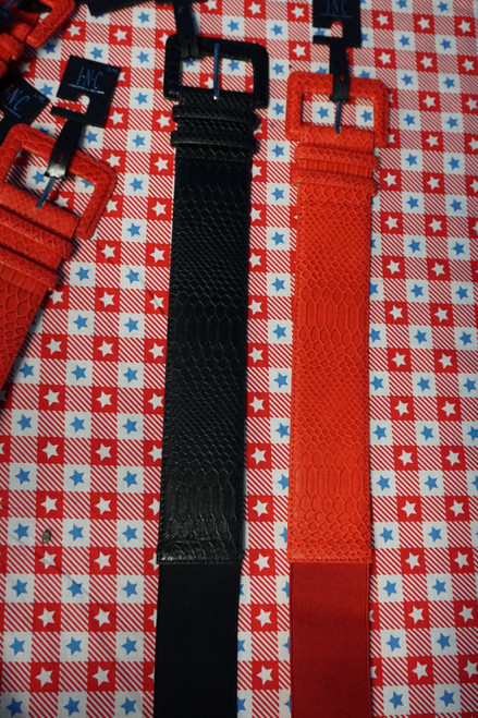 18pc INC Womens STRETCH Belts in 2 Colors ALL SIZES #23672B (Q-1-3)