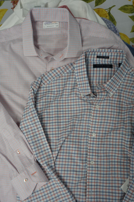 17pc N*RDSTR*M Mens Button Up Shirts TOMMY & More #23712d (O-3-3)