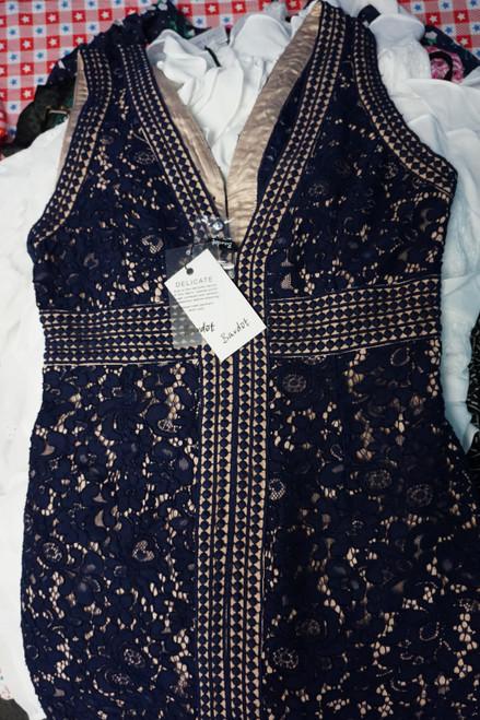 24pc BL**MINGDALES Dresses Bardot AQUA #23813H (W-5-5)