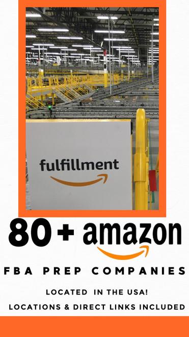 80+ Amazon FBA Prep Service Companies Inside the USA List
