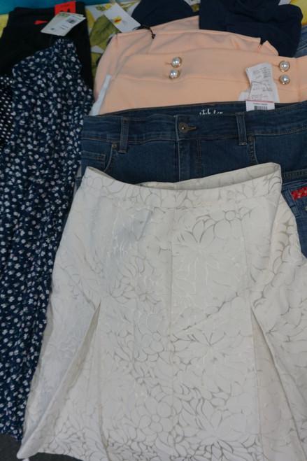 20pc Skirts INC Style & Co AQUA Karen Scott #23915P (U-3-2)