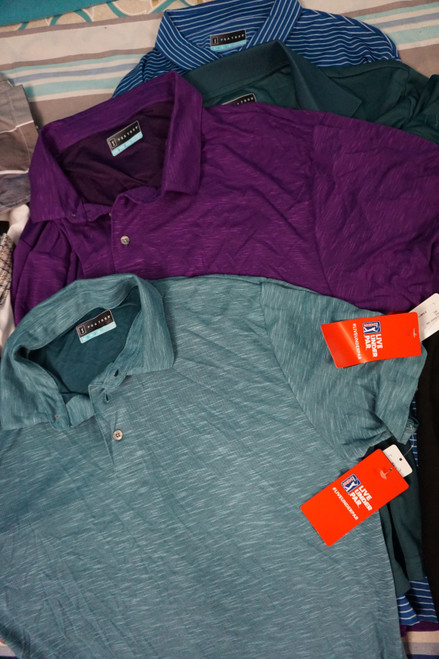 6pc MENS *ONLY PGA TOUR* Polo Shirts #24003w (X-6-6)