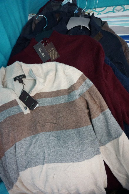 25pc MENS *ONLY TASSO ELBA* Pullovers +CASHMERE #24005w (E-5-4)