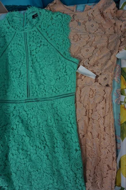 8pc BIG STORE Lace Knee Length Dresses #24028x (M-1-4 )