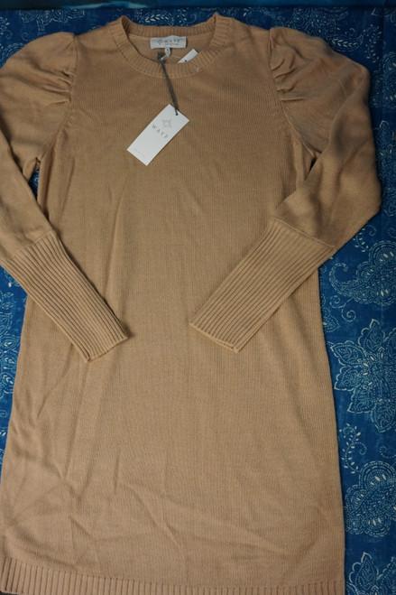 22pc WAYF Womens Tan Sweater Dresses #24169G (L-4-3 )