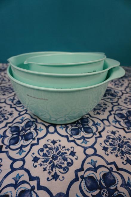 2 SETS = 6pc KitchenAid Mixing Bowl w/ Pour Spout Set MINT #24213K (H-5-5)