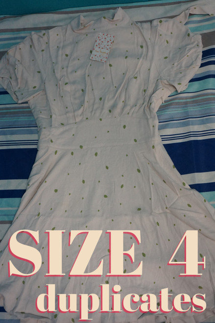 16pc FREE PEOPLE Dresses *SIZE 4 ONLY* Ivory #24456c (Z-8-5)