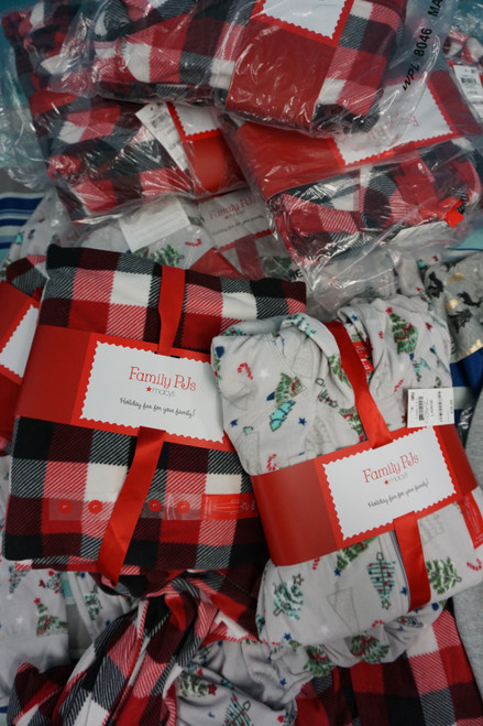 12pc M*CYS Family PJ Adult Sleepers Fleece Union Suits #24486e (c-3-2)
