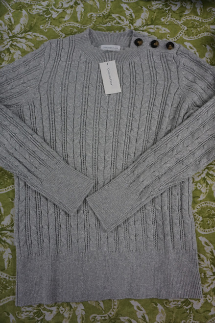 15pc Womens CHARTER Silver Sweaters DUPLICATES #24514G ( L-2-6)