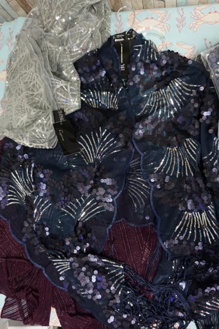 15pc M*CYS Designer Sequin Shawls & Scarves #24515G (K-1-3 )