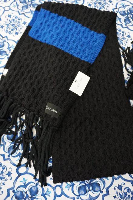 20pc Calvin Klein Black / Blue Scarves #24550J (  X-5-2)