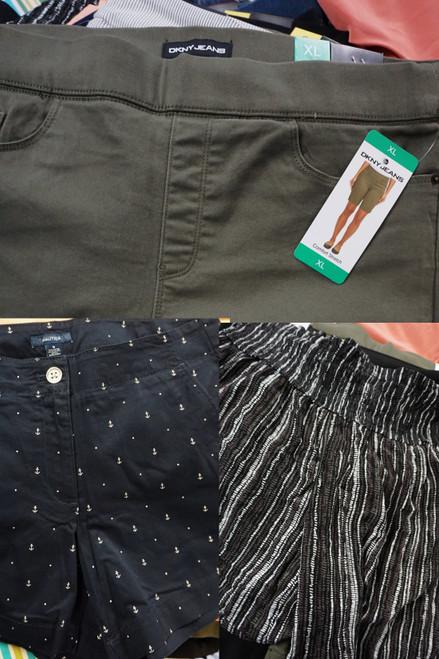 30pc Womens Shorts NAUTICA Three Dots TUFF ATHLETICS & More #24607M (M-5-1)