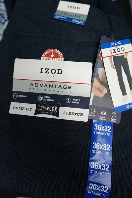10pc Mens IZOD Advantage Performance Pants #24611N (Z-3-2)