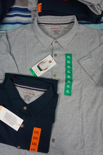 15pc Mens Weatherproof Polo Shirts DUPLICATES #24613N (Z-2-4)