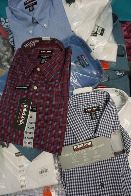 21pc Mens Kirkland Signature Button Up Shirts #24623P (Y-6-2)