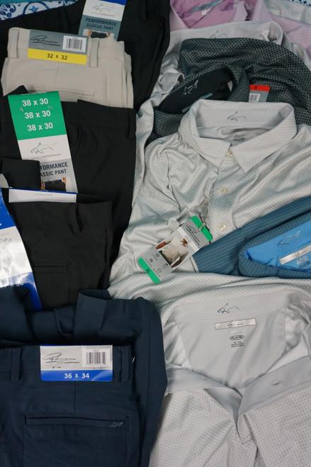 13pc Mens Greg Norman Shirts & Pants  #24625P (N-2-5)