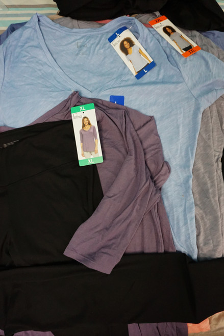 22pc Womens FELINA Tops & More - Long & Short Sleeve #24655R ( X-1-4)