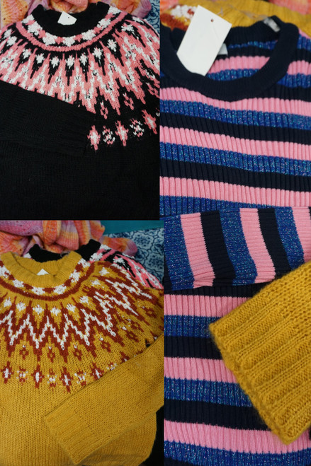24pc M*CYS Juniors HOOKED UP Sweaters & Tops #24688T (Y-8-1)