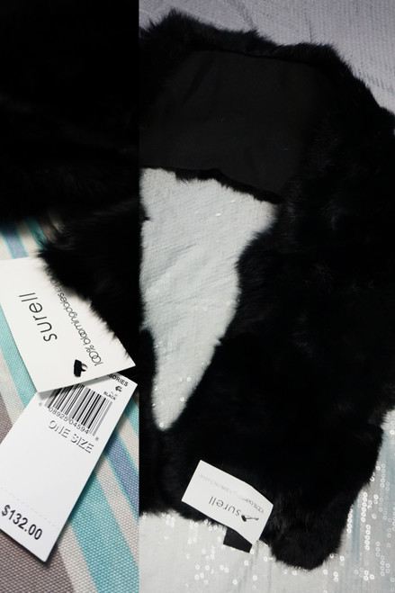 7pc Surell Real Long Hair Rabbit Fur Scarves DUPLICATES #24718v (i-1-1)