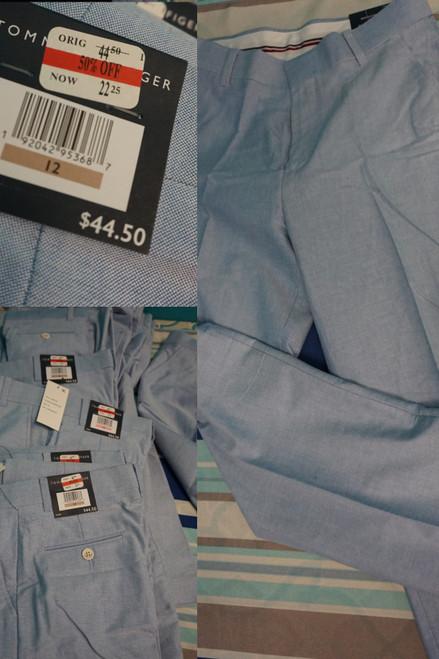 12pc BOYS Tommy Hilfiger Dress Slacks Pants Blue #24719v (i-5-5)