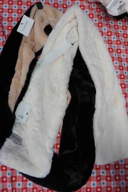 18pc Womens Calvin Klein Faux Fur Scarves #24727w (C-3-1)