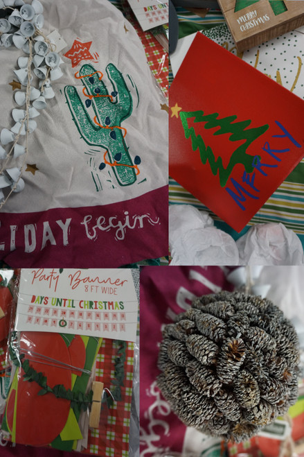 20+pc BIG STORE Holiday Decor #24801A (L-3-3)