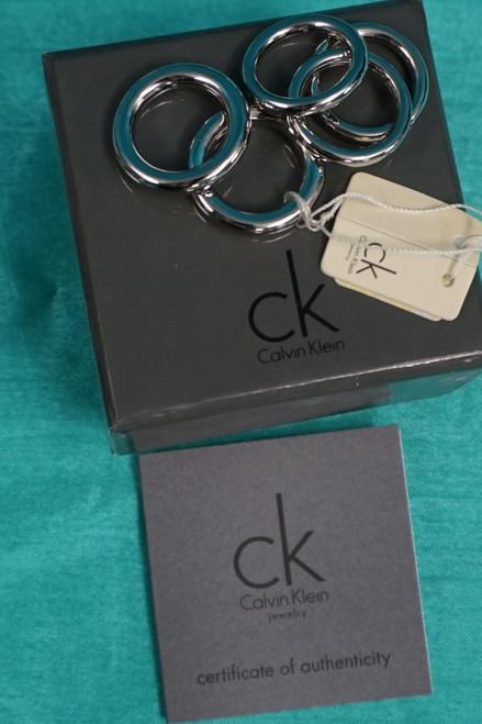 18 Boxes (=90pc) Womens 5-Piece Calvin Klein Ring Sets Silver #24809B (Z-2-5)