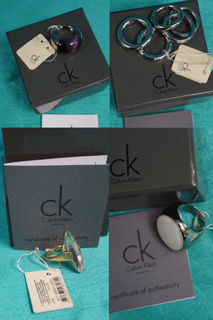 100pc Calvin Klein Assorted Womens Rings BOXED #24814B (C-1-3)