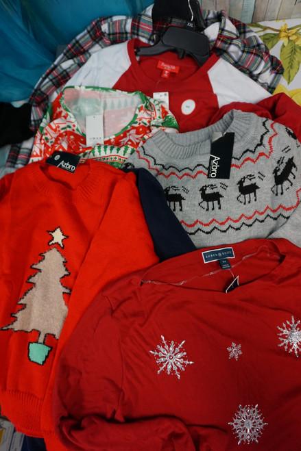 26+pc Assorted Family Holiday Apparel & Sleepwear #24849e ( v-7-4)