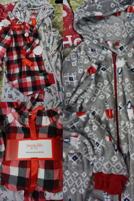 21pc M*CYS Mens Womens Kids Fleece Sleeper PJs #24851e (v-6-1 )