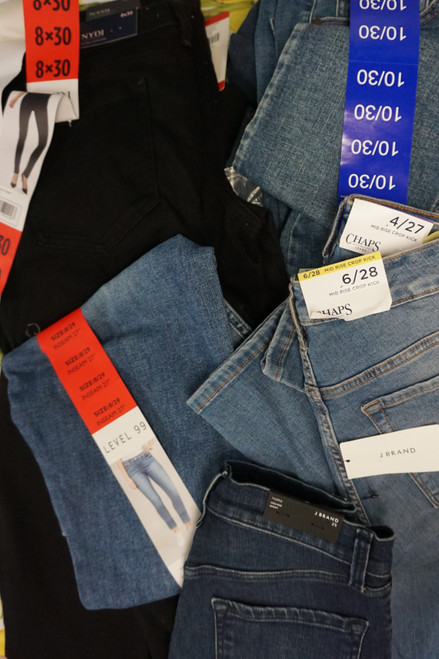 17pc Womens Jeans JBRAND Kenneth Cole CHAPS DKNY #24867F (W-2-4)