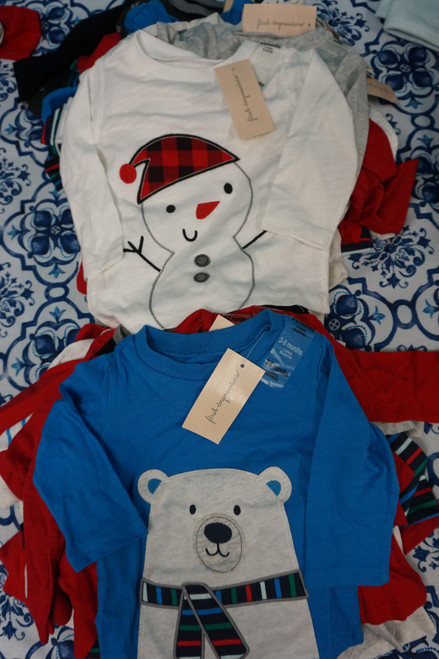 38pc Baby First Impressions Holiday Tees 3, 6, 9 MONTHS #24889F (V-3-3)