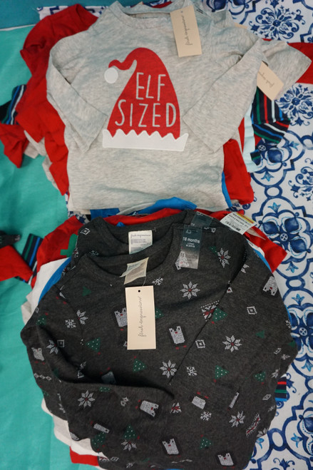 52pc Baby First Impressions Holiday Tees 12 & 18 MONTHS #24890F (X-3-3)