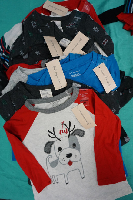 32pc Baby First Impressions Holiday Tees 24 MONTHS / 2T #24891F (Z-2-3)