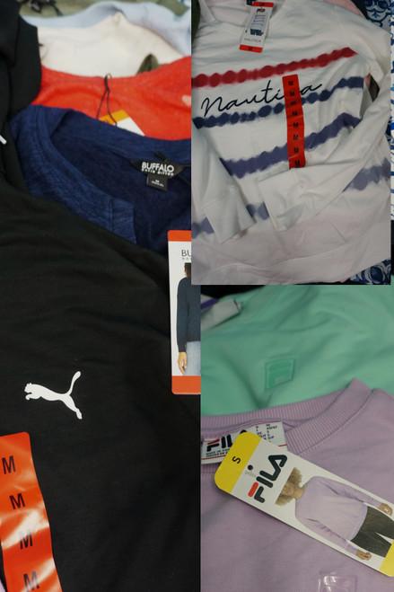 20pc Womens Sweatshirts PUMA Fila BUFFALO Nautica #24903G (X-4-2 )